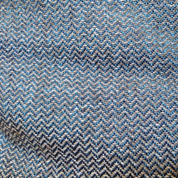 мебельная ткань серо-синий зигзаг