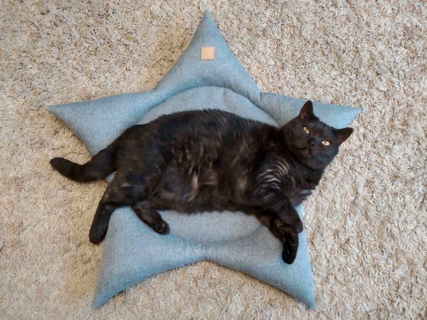 лежанка для кота звезда