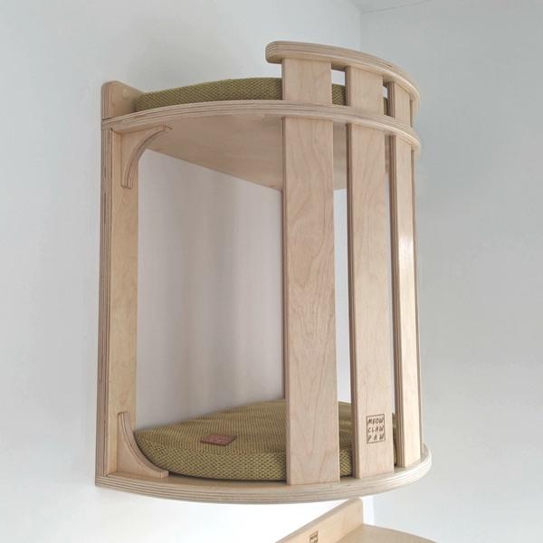 домик с бортиком настенный для кота