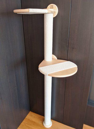 когтеточка столбик с полками с намоткой канатом